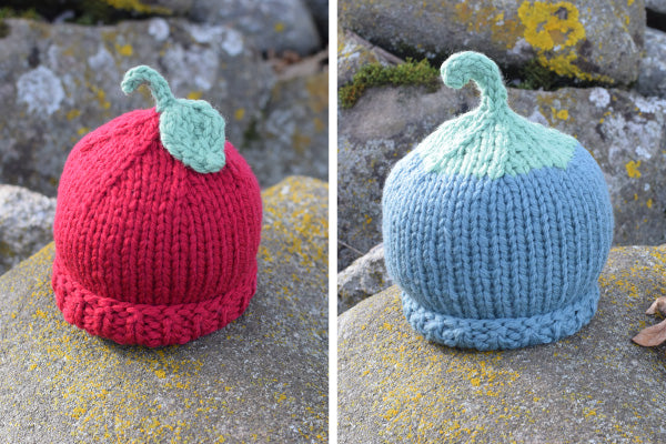 Apple and Grape Chunky Harvest Hats