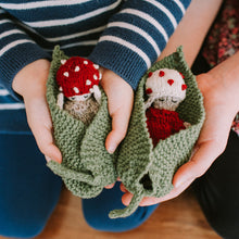 Toadstool Doll & Leaf Set