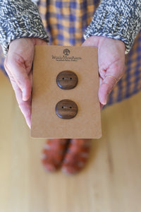 Artisan Black Walnut Buttons
