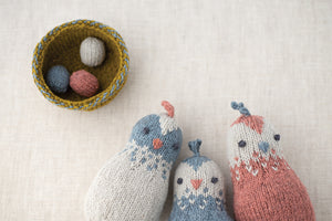 Simple Little Bird and Nest Pattern