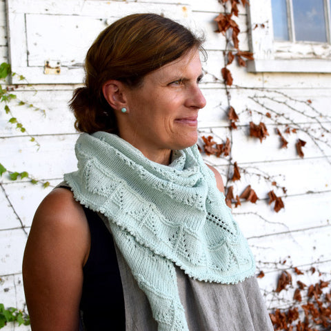 Snowy Pine Shawl in Home Fingering Weight