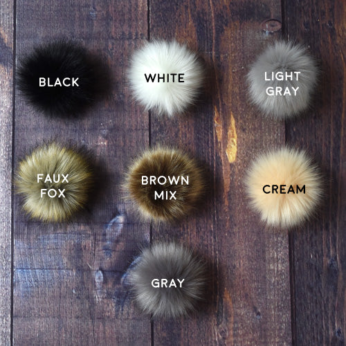 ddafcc3f82e Snap-On Faux Fur Pom-Poms – Barrett Wool Co.
