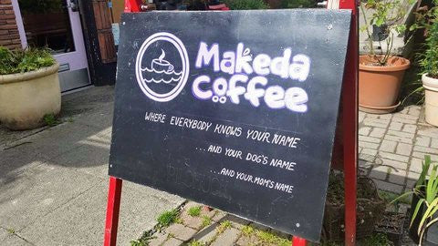 Makeda & Mingus Coffee Sign
