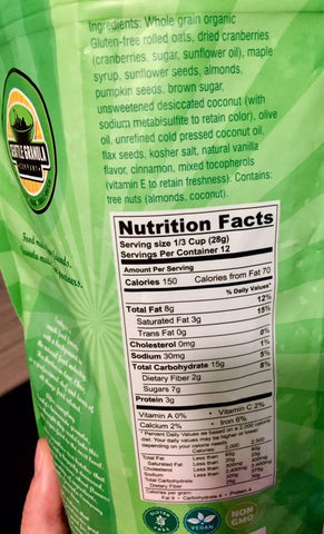 Seattle Granola Company Nutritional Facts