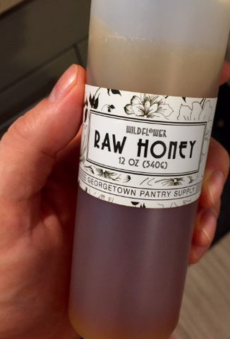 Wildflower Raw Honey Front Label 12 oz