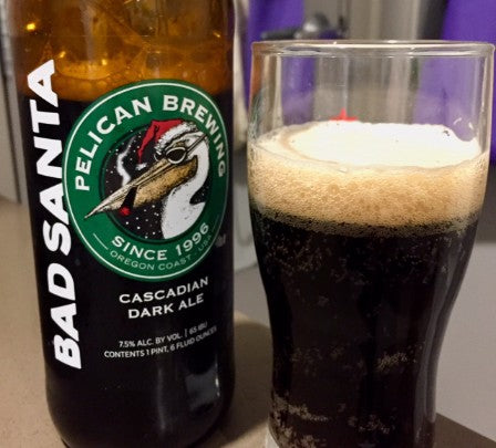Pelican Brewery Cannon Beach Bad Santa Cascadian Dark Ale