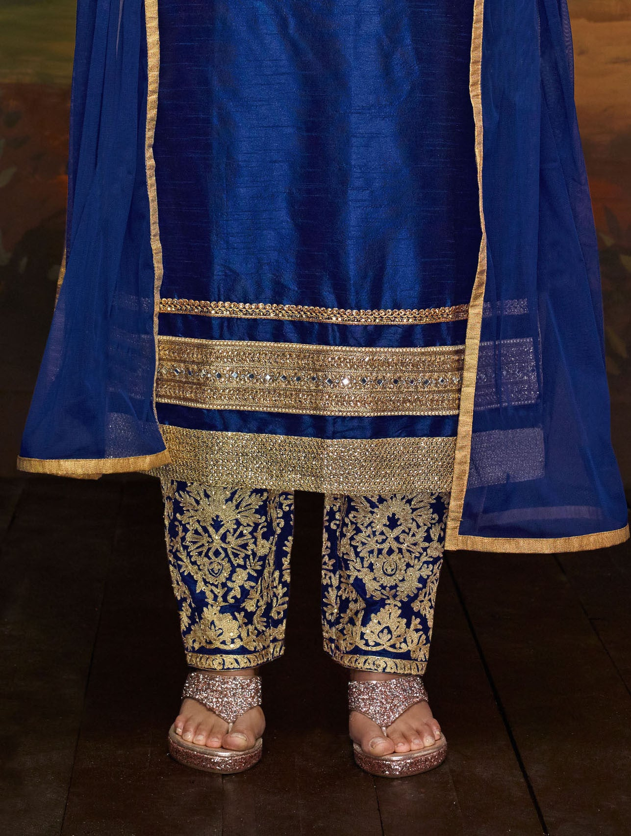 Banglori Silk Blue Salwar Suit