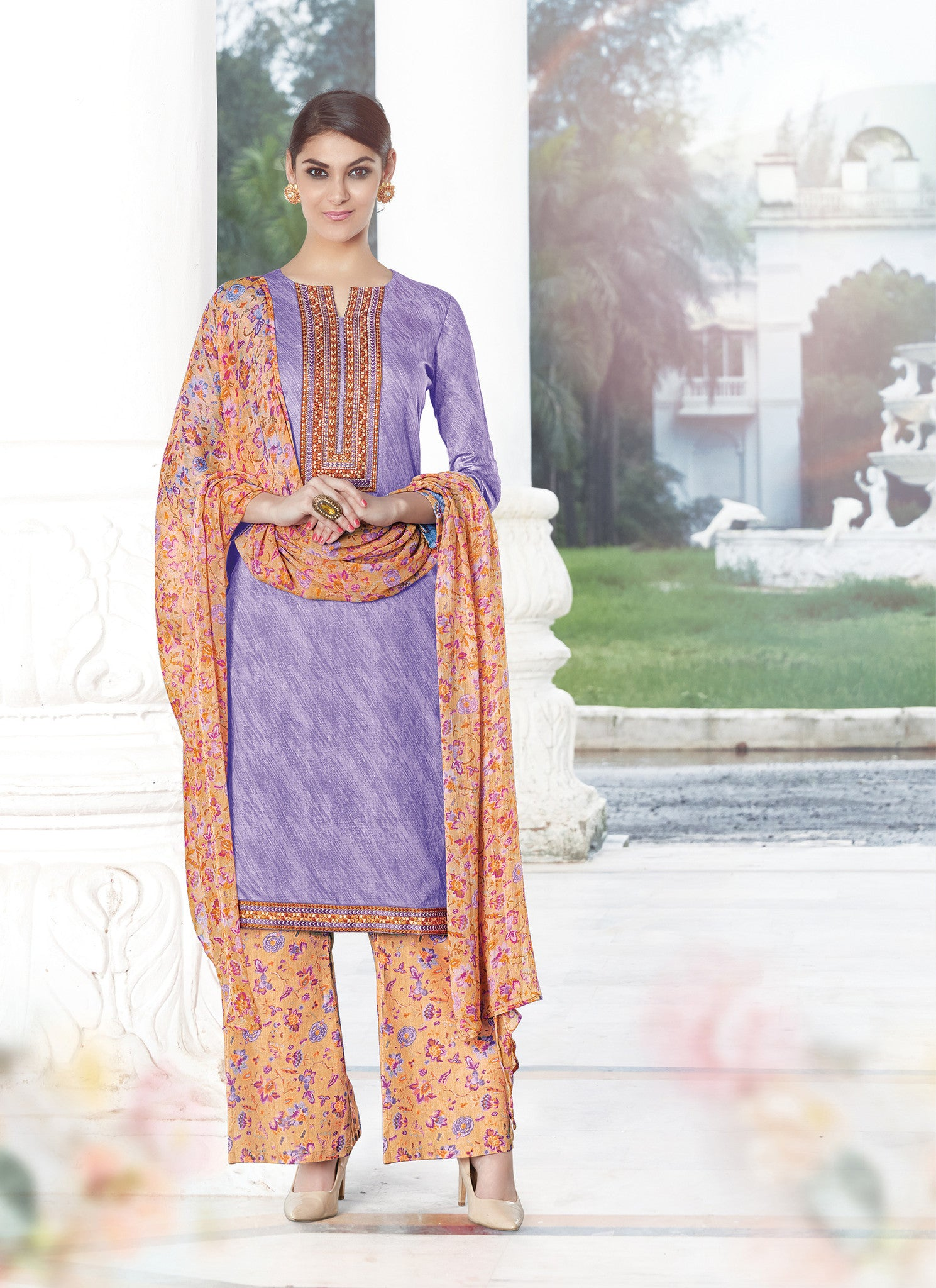 Satin Cotton Salwar Suit Collection