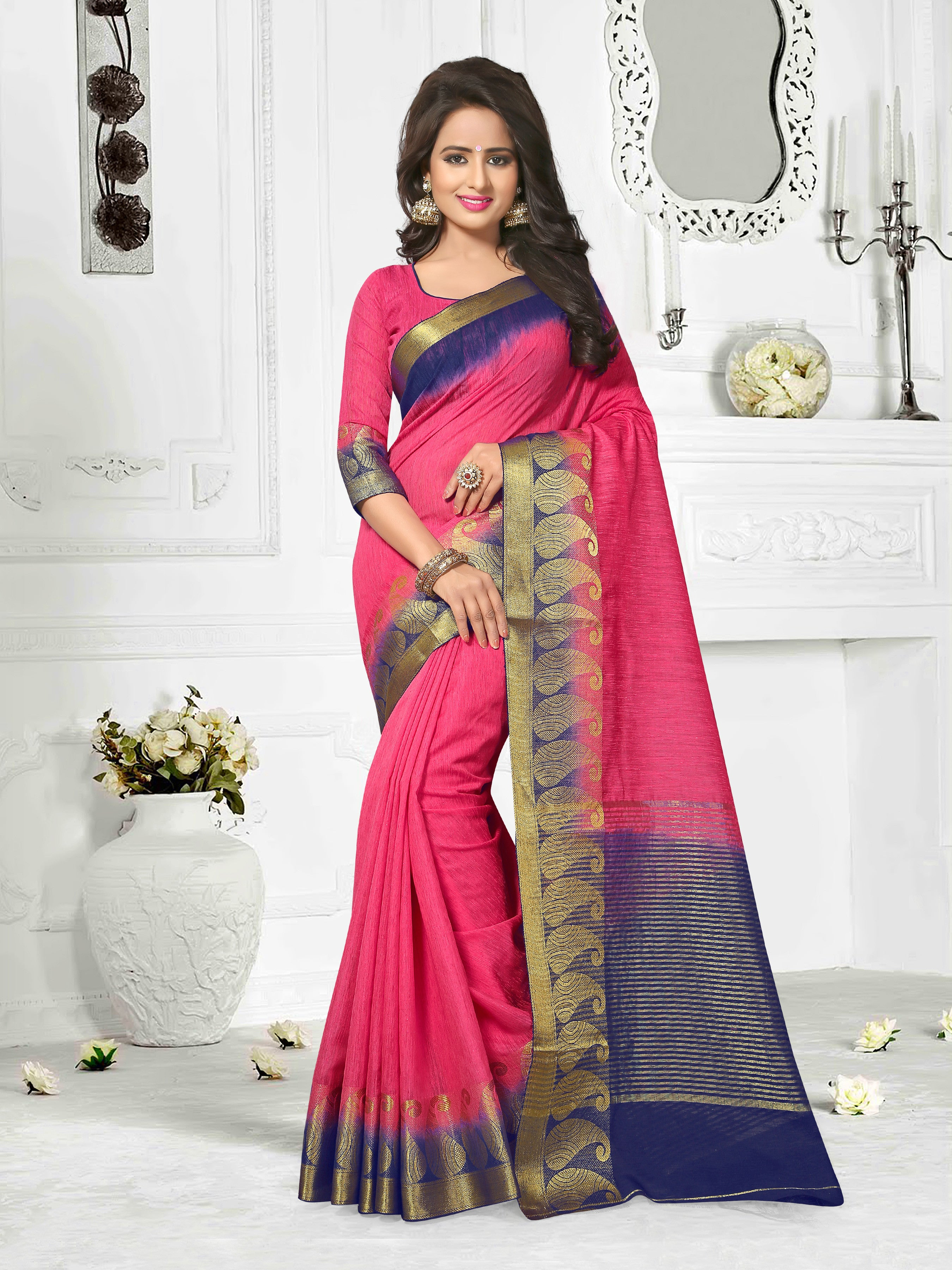 Cotton Jute Saree Collection.