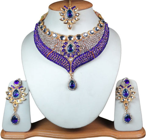 Indian Bollywood Fashion Gold Jewelry Set