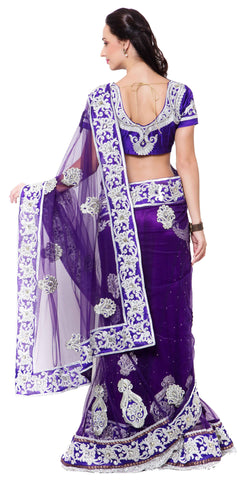 Signature Purple Net Saree.