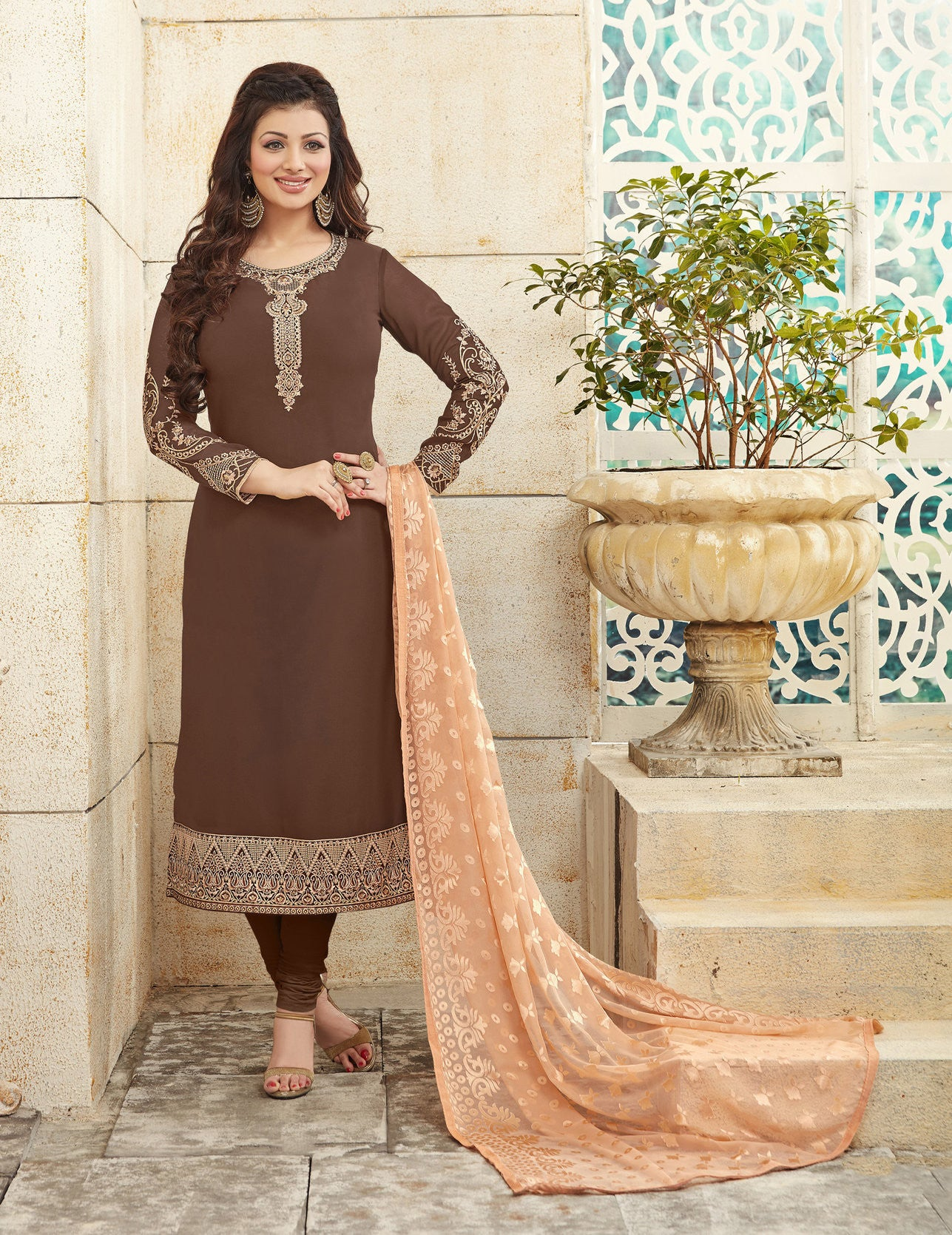 Black Georgette Salwar Suit.