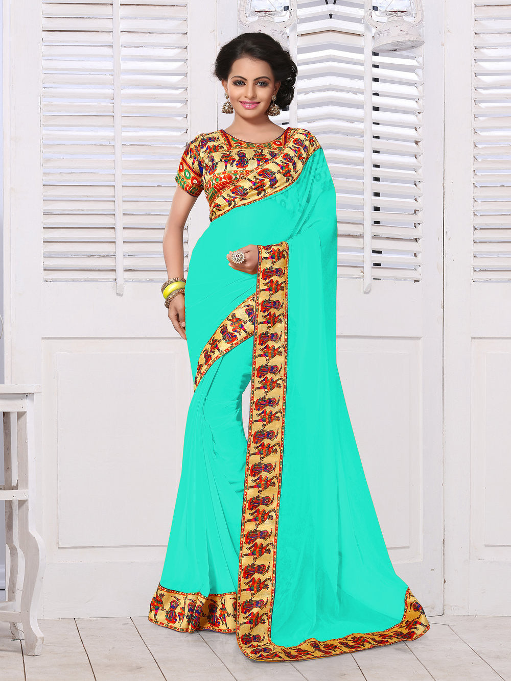 Digital Printed Multi Colored Saree Collection - A