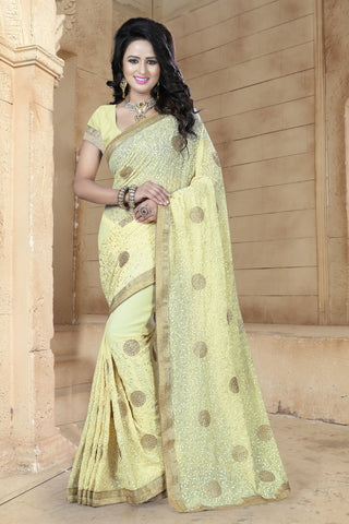Lovely Multi Colored Georgette Sarees.