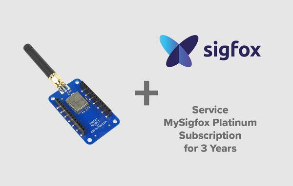 Sigfox Module with Subscription of MySigfox Platinum Service for 3 Years