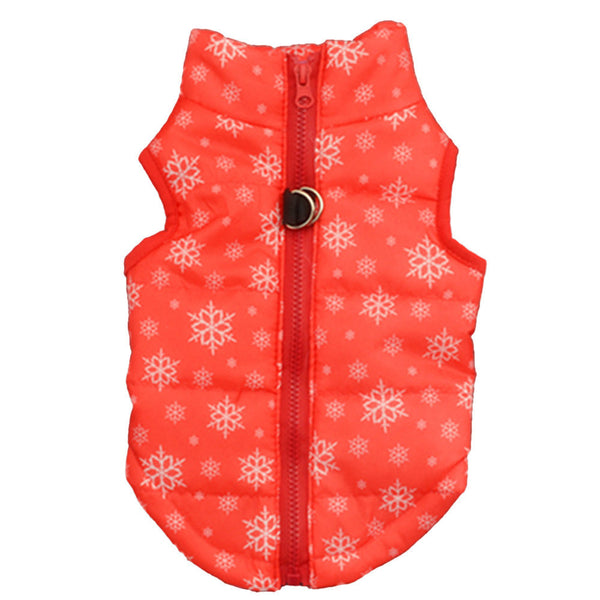 Warm Winter Coat Waterproof For Small to Large Dogs Holiday Theme