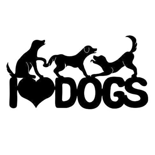 """I Love Dogs"" Decal"