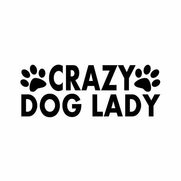 """Crazy Dog Lady"" Decal"