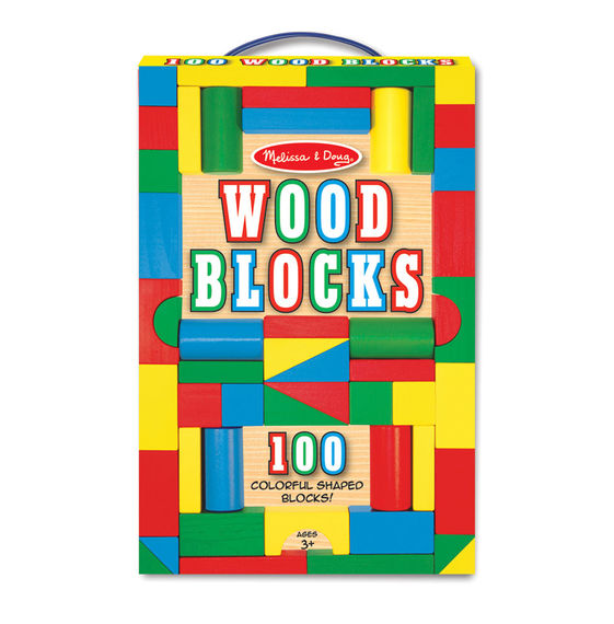 Melissa & Doug 100 Piece Wood Blocks FuddyDuddy Autism
