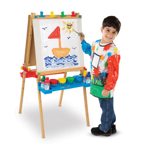 Melissa & Doug Deluxe Wooden Standing Art Easel & Art Companion Set