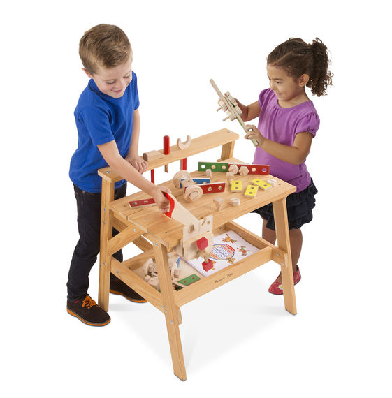 Melissa & Doug Wooden Project Solid Wood Workbench