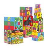 Melissa & Doug English Alphabet Nesting and Stacking Blocks