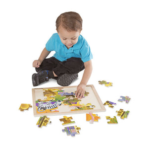 Melissa & Doug African Plains Wooden Jigsaw Puzzle - 24 Pieces