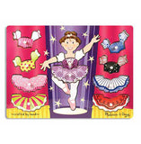 Melissa & Doug Ballerina Dress-Up Mix 'n Match Peg Puzzle - 10 Pieces