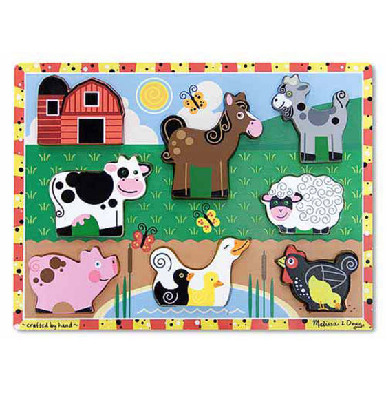 Melissa & Doug Farm Chunky Puzzle - 8 Pieces
