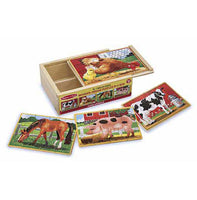 Melissa & Doug Farm Animals Jigsaw Puzzles in a Box
