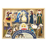 Melissa & Doug Wooden Christmas Nativity Set