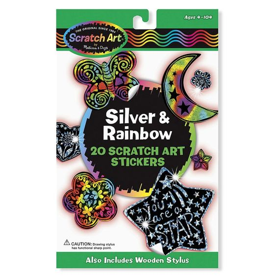 Melissa & Doug Scratch Art Original Stickers