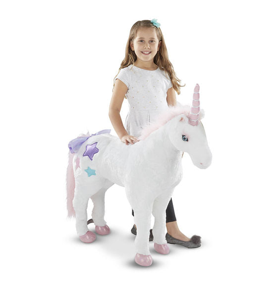 Melissa & Doug Unicorn Jumbo Stuffed Animal