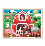 Melissa & Doug Barnyard Buddies Wooden Jigsaw Puzzle - 24 Pieces