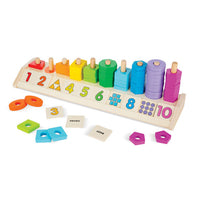 Melissa & Doug Counting Shape Stacker - Early Learning