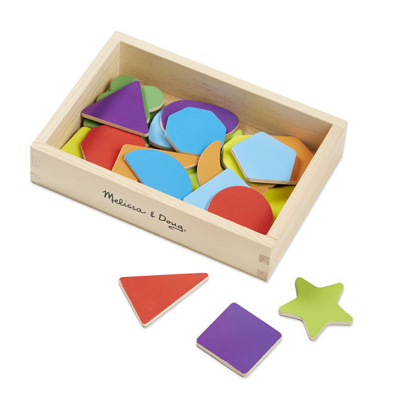 Melissa & Doug Magnetic Wooden Shapes