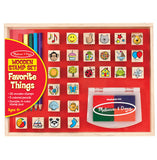 Melissa & Doug Wooden Favourite Things Stamp Set