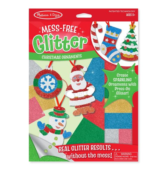 Melissa & Doug Mess-Free Glitter Christmas Ornaments