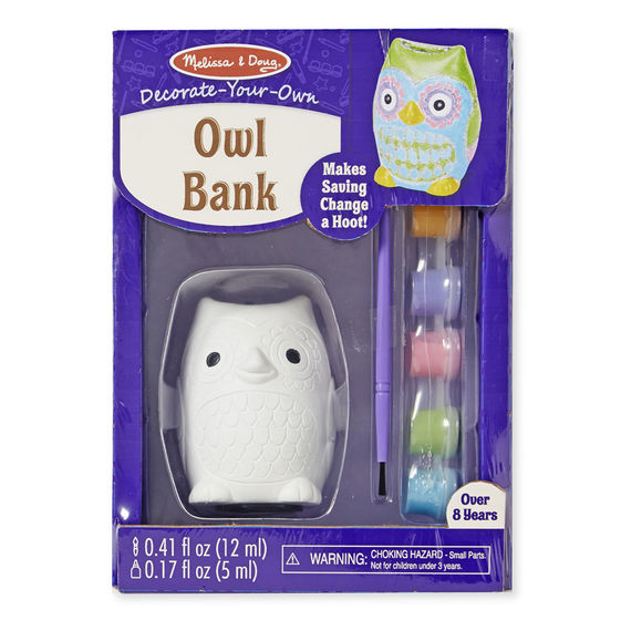 Melissa & Doug Decorate-Your-Own Owl Bank