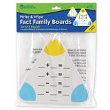 Wipe-Clean Fact Family Boards (Set of 5)