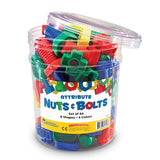 Attribute Nuts & Bolts, Set of 64