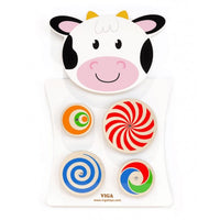 Wall Toys Cow - Turning Patterns