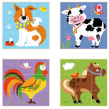 Stacking Farm Animal Cube Puzzle