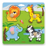 Large Knob Wild Animals Peg Puzzle