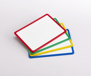 Magnetic Plastic Framed Whiteboards - Pack of 4