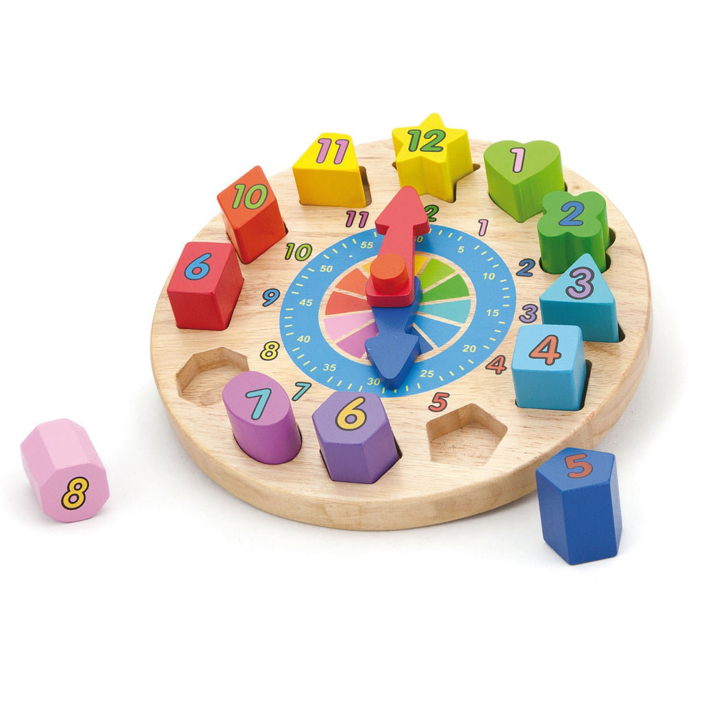 Shape Sorting Chunky Clock Puzzle