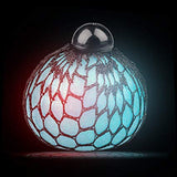 Light Up Glitter Squishy Mesh Ball