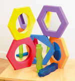 Hexagonal Softies - Pack of 5