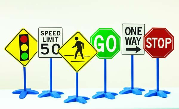 Traffic Sign Set - Pack of 6