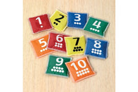 Number & Dot Bean Bags - Pack of 10